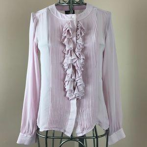 Luisa Spagnoli pure silk pink long sleeve top
